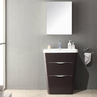 Milano 26 inch  Single Sink Modern Bathroom Vanity Set