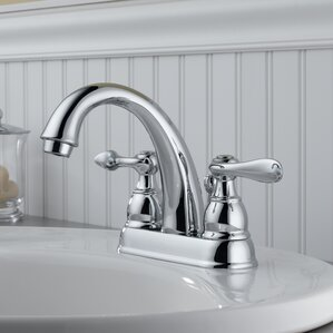 Windemere Centerset Double Handle Bathroom Faucet With Drain Assembly And  Diamond Seal Technology
