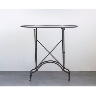 Keesler Foldable Oval Metal End Table