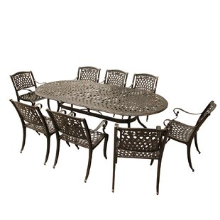 Darby Home Co Slyvia 9 Piece Dining Table