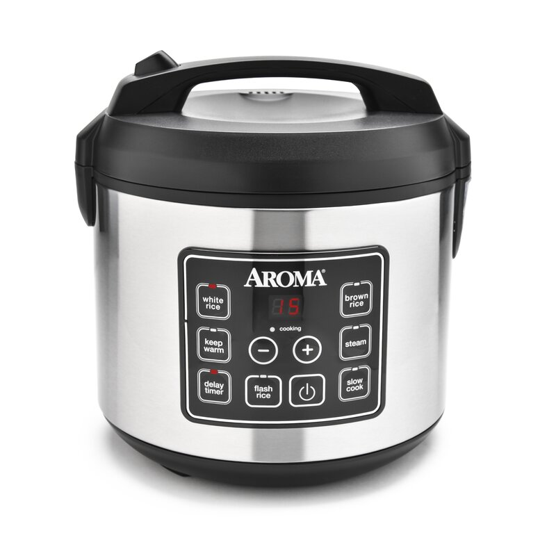 3e3c1d9ac31 Aroma 20-Cup Stainless Steel Digital Slow Cooker