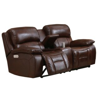 Westminster II Leather Reclining Loveseat by HYDELINE