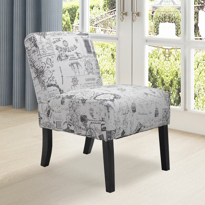 Breakwater Bay Aime Upholstered Parsons Chair in Beige