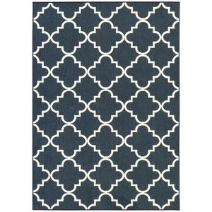 Hanley Navy And White Area Rug