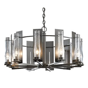 Hubbardton Forge New Town 10-Light Shaded Chandelier