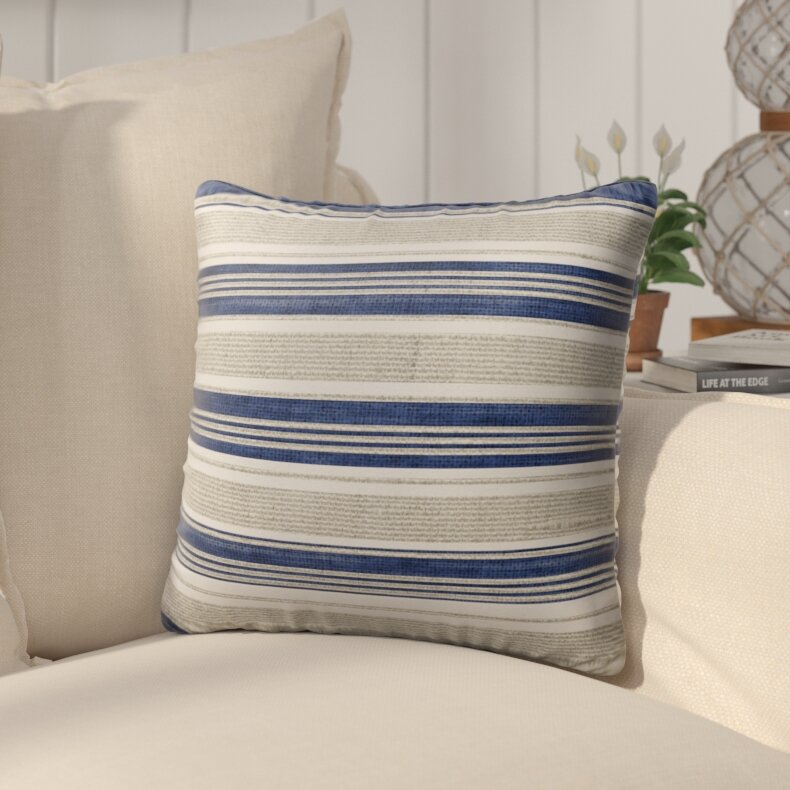 Beachcrest Home Pinehurst Cotton Indoor Outdoor Striped Throw Pillow Reviews Wayfair
