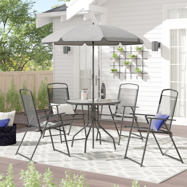 Patio Table Set With Umbrella Wayfair
