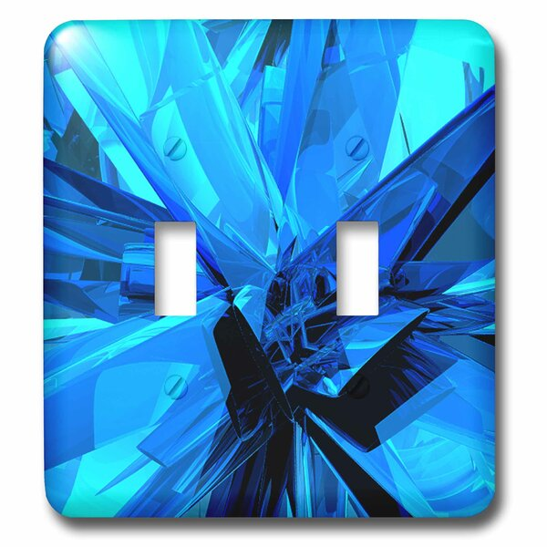 3drose Glass Abstract Fractal Digital Work Of Reflecting Glass And Metal Surfaces 2 Gang Toggle Light Switch Wall Plate Wayfair