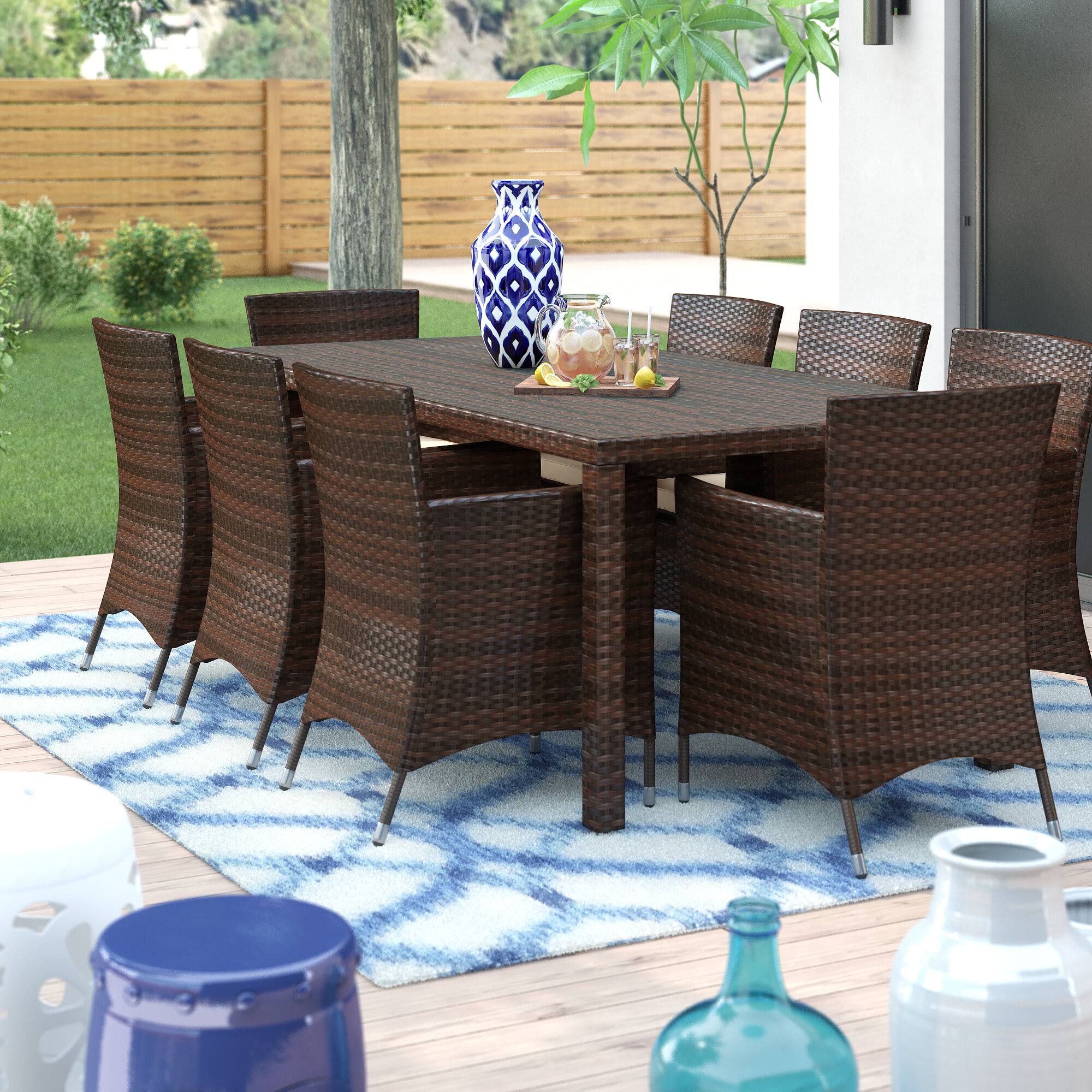 Surprising Kennerdell 9 Piece Dining Set With Cushions Cjindustries Chair Design For Home Cjindustriesco