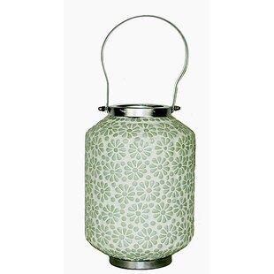 Mosaic Glass Lantern by Bungalow Rose