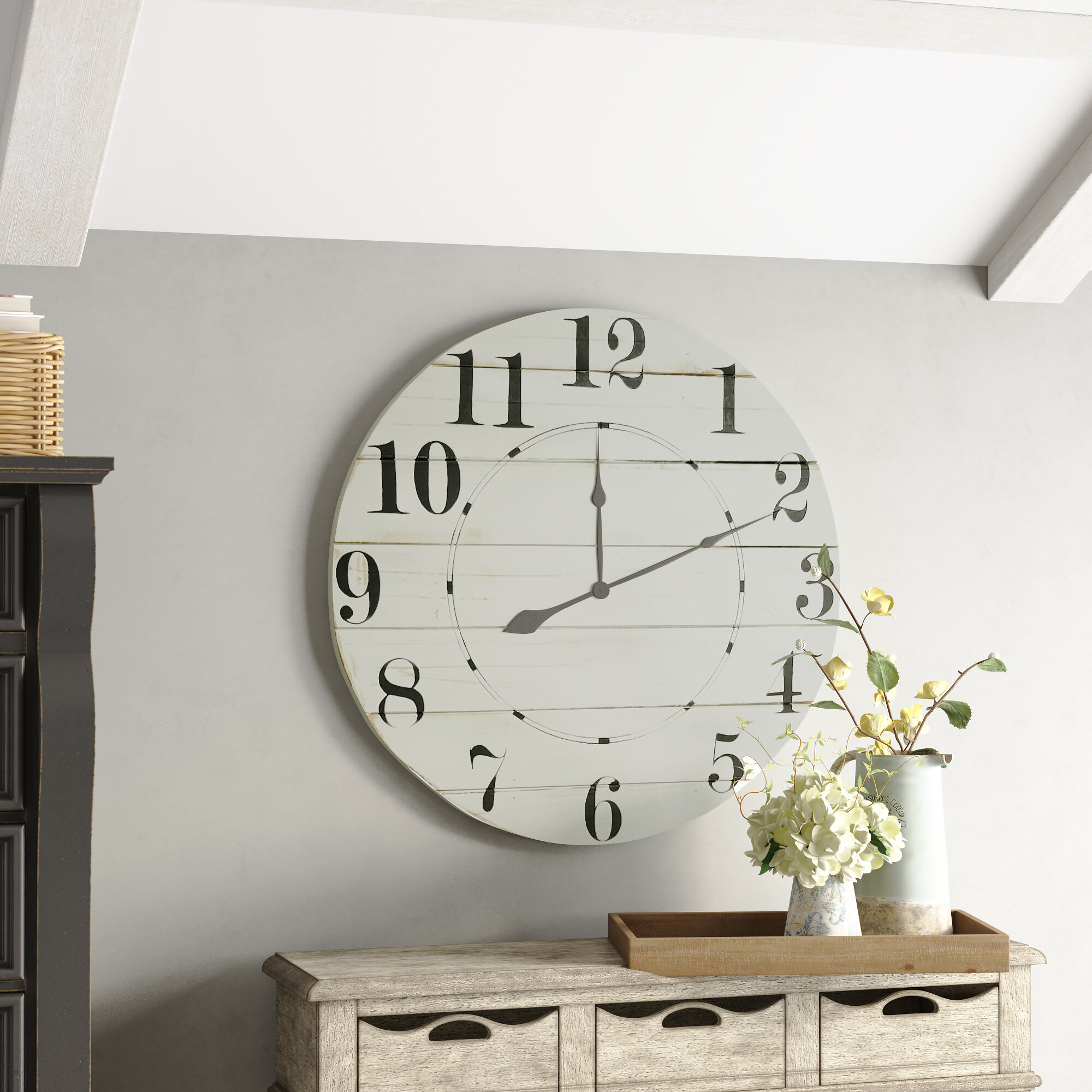 Birch Lane Oversized Fruithurst Wall Clock Reviews Wayfair