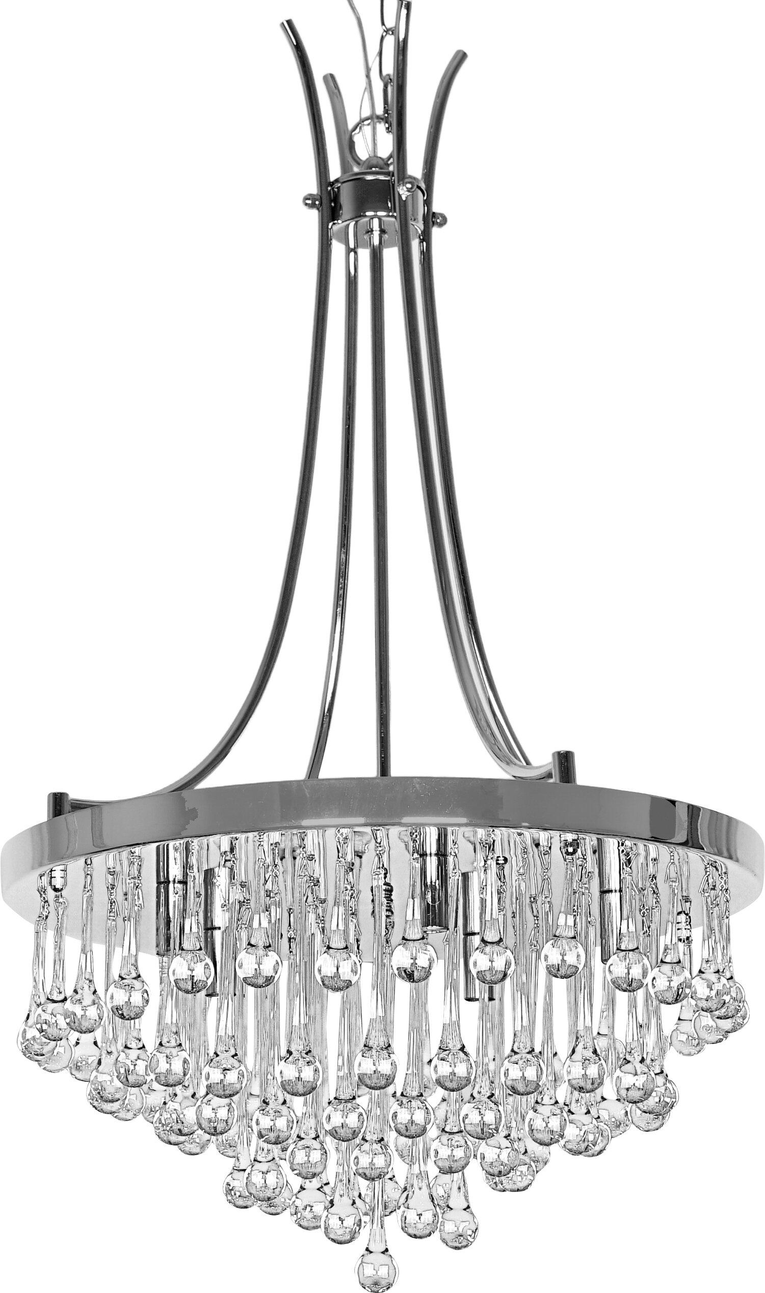 Gillette 5 Light Crystal Chandelier