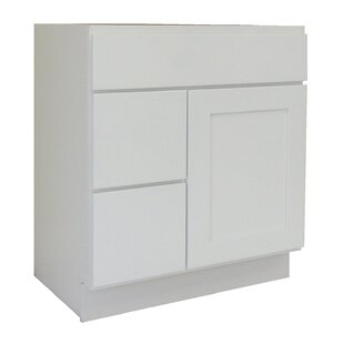 Shaker Cabinet 30 Single Bathroom Vanity Base Only By NGY Stone & Cabinet