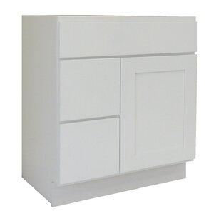 Shaker Cabinet 30 Single Bathroom Vanity Base by NGY Stone & Cabinet