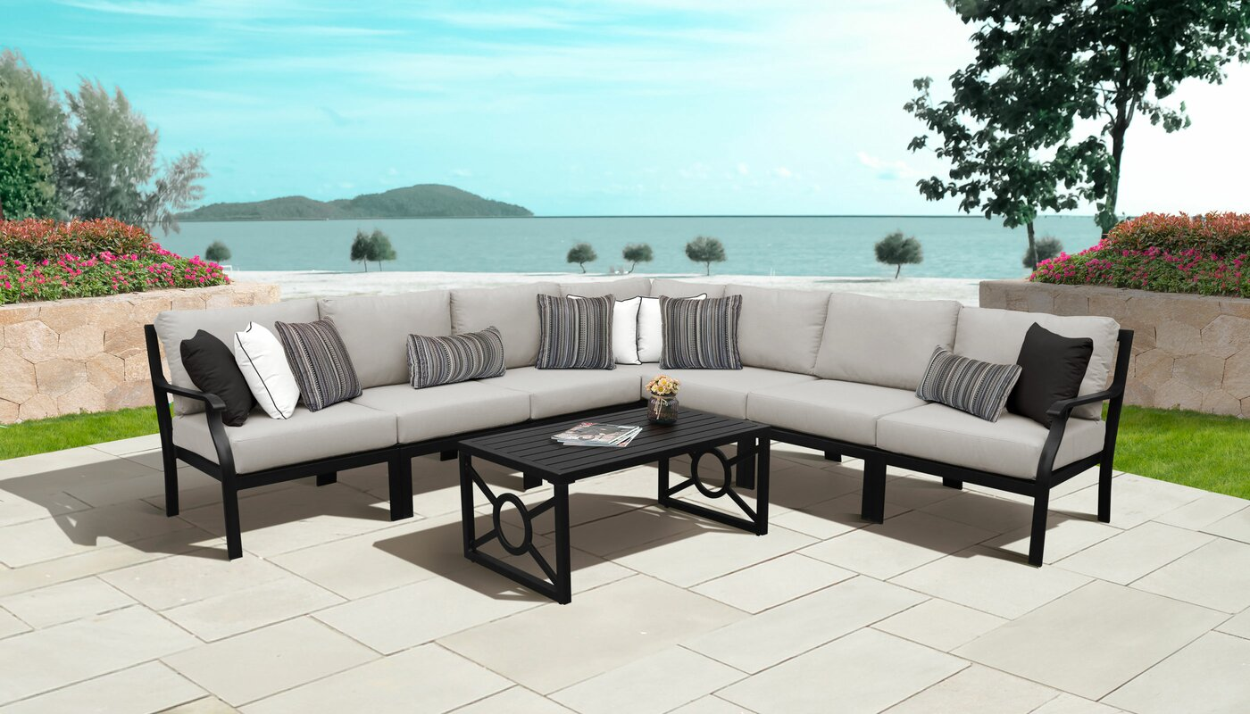 kathy ireland Homes & Gardens by TK Classics Kathy Ireland Madison Ave. 8 Piece Sectional Seating Group with Cushions