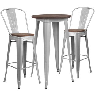 Priddy 3 Piece Pub Table Set