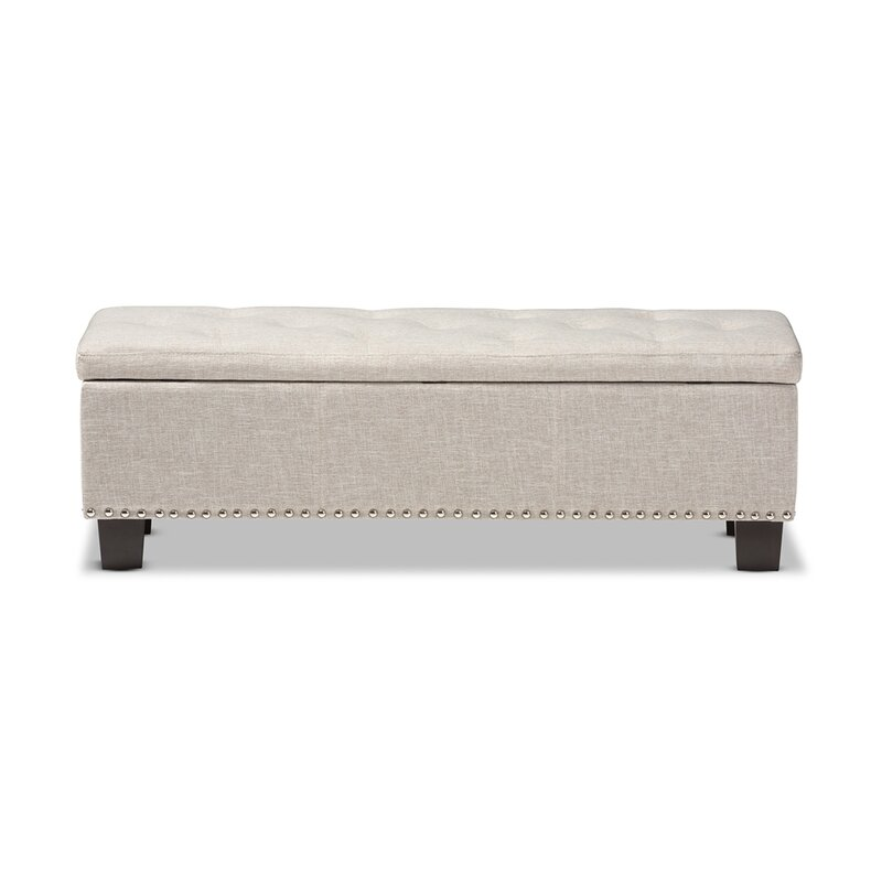 Back Bay Upholstered Storage Bench