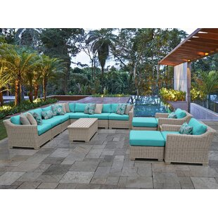 Coast 13 Piece Sectional Seating Group with Cushions by TK Classics