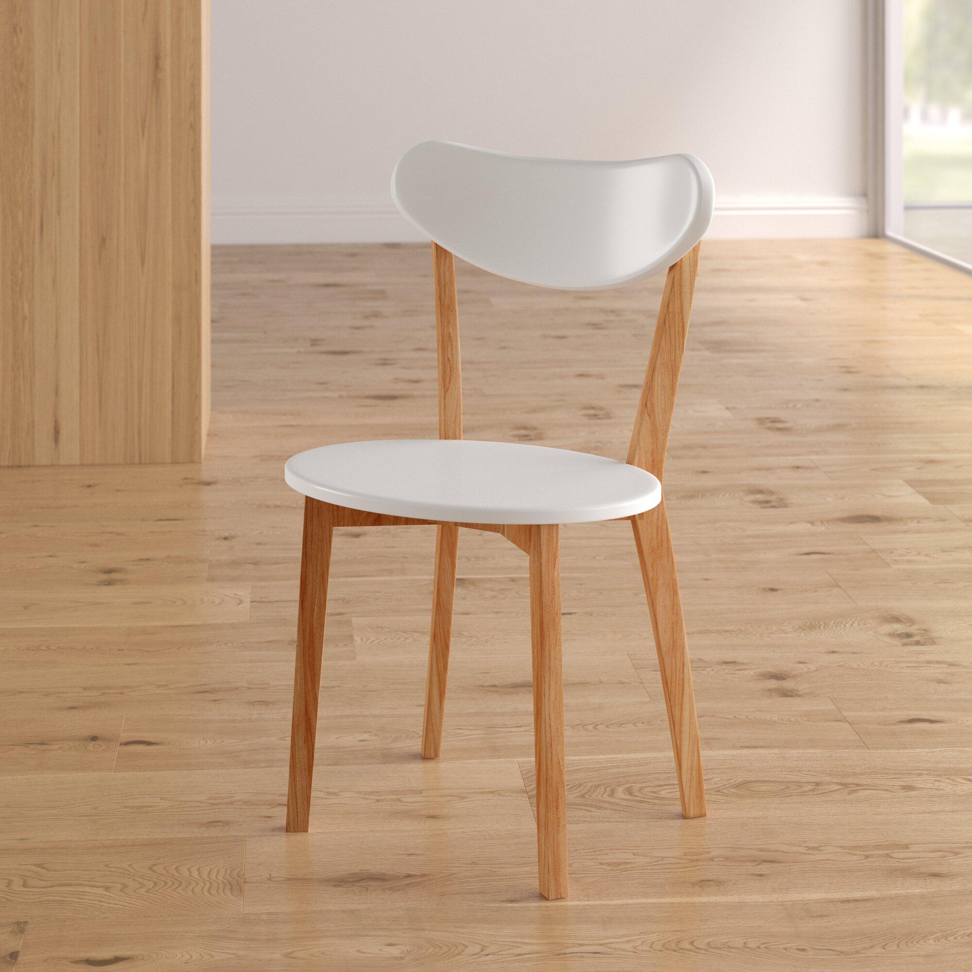 Brayden Studio Bryant Retro Modern Upholstered Dining Chair Reviews Wayfair