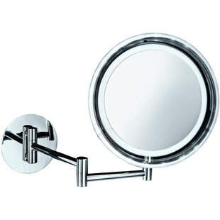 Read Reviews Krahn LED Swivel Makeup/Shaving Mirror By Symple Stuff