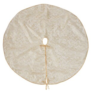 Naveen Organza And Leaf Design Tree Skirt