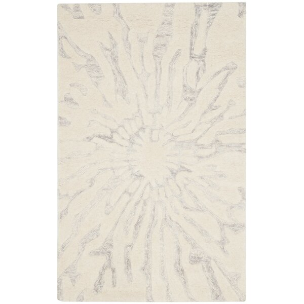 Mcguire Hand Tufted Wool Silver Ivory Area Rug Amp Reviews