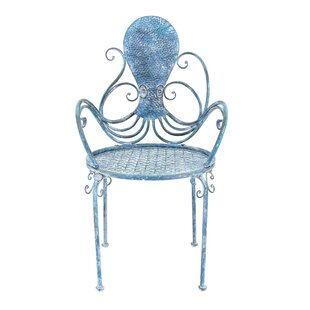 Santo Octopus Patio Dining Chair by Breakwater Bay