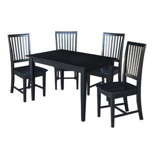 Spratt 5 Piece Extendable Solid Wood Dining Set
