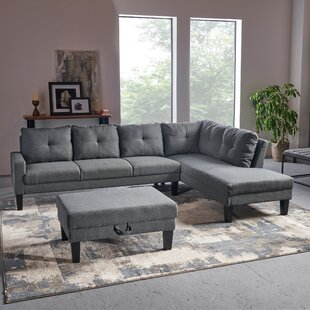 Elodia Sectional with Ottoman by Latitude Run