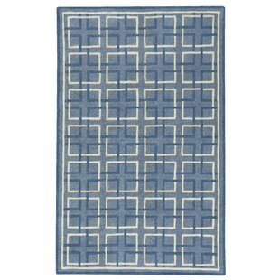 Wieland Framework Hand-Tufted Blue Area Rug by Breakwater Bay