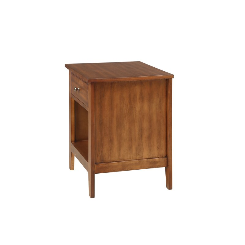 Red Barrel Studio Aariya 1 Drawer Solid Wood Nightstand Wayfair