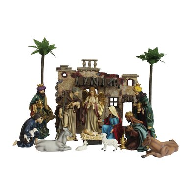 The Holiday Aisle 15 Piece Nativity Set