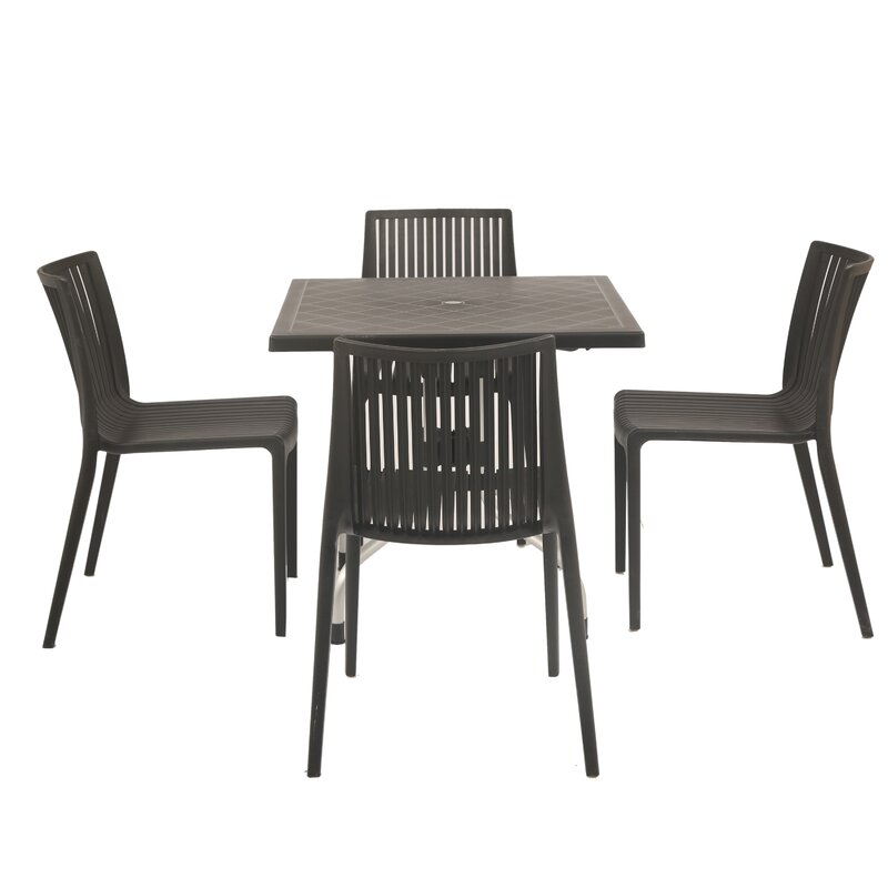 Ebern Designs Weingarten Commercial Grade Piece Dining Chair Set - Commercial table and chair sets