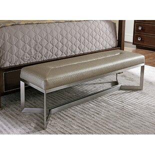MacArthur Park Faux Leather Bench By Lexington