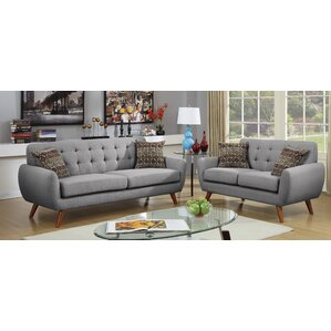 Takeo 2 Piece Living Room Set by Langley Street