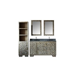Chandler Solid Elm 60 Double Bathroom Vanity Set with Mirror by Bay Isle Home