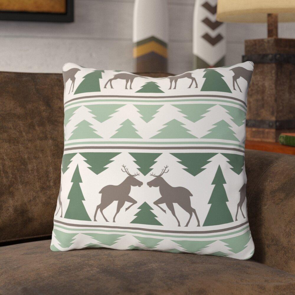 Union Rustic Kuehl Winter Forest Throw Pillow Wayfair