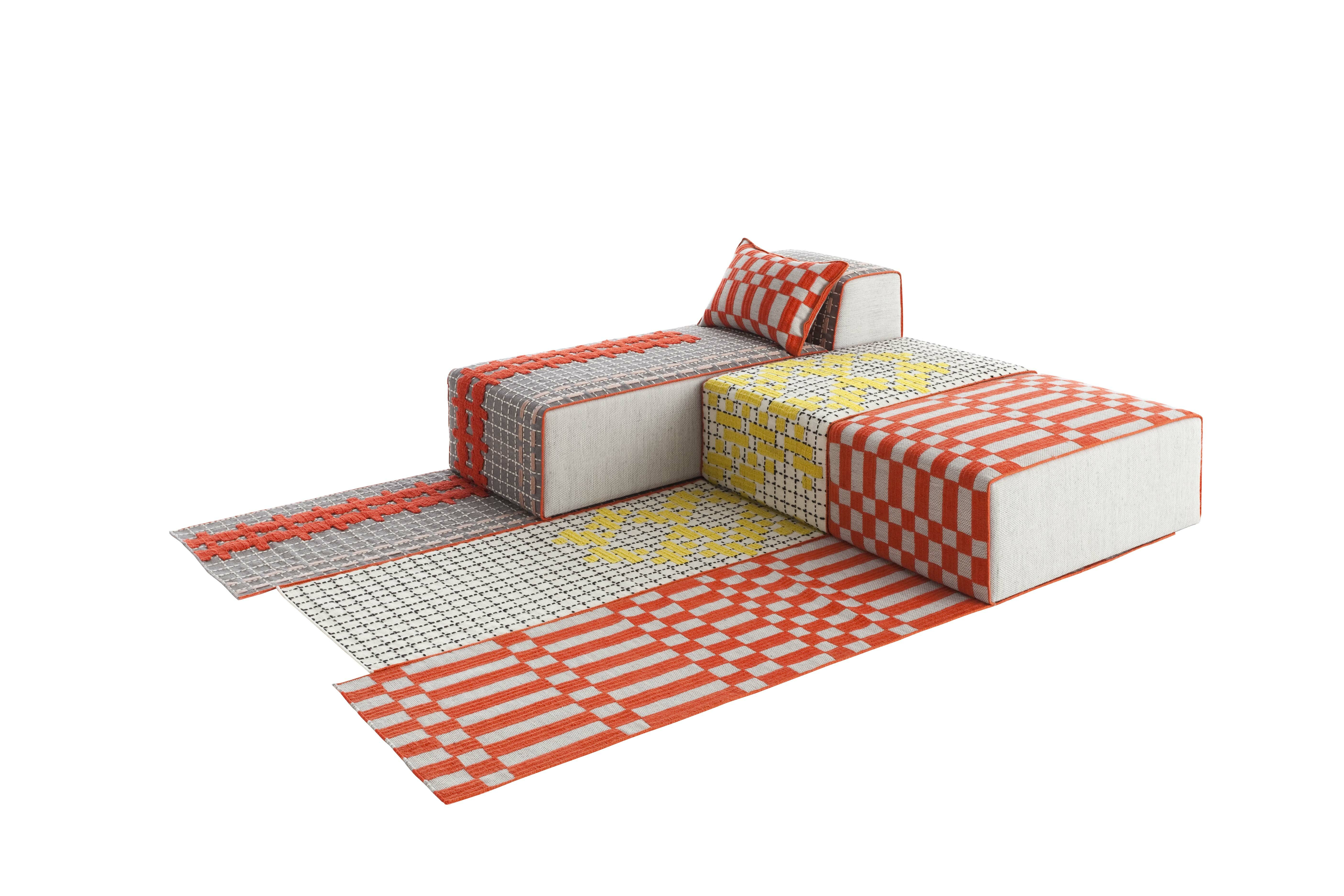 Gandia blasco bandas space single b orange area rug wayfair