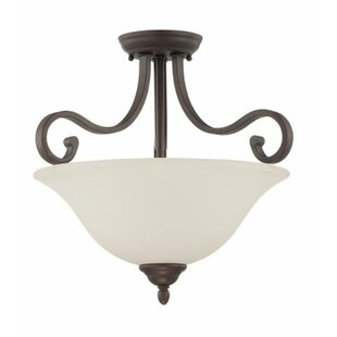 Bublitz 2-Light Semi Flush Mount by Fleur De Lis Living