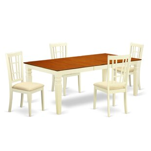 Beesley 5 Piece Buttermilk/Cherry Dining Set DarHome Co