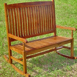 Pine Hills 2-Seater Rocking Bench Beachcrest Home