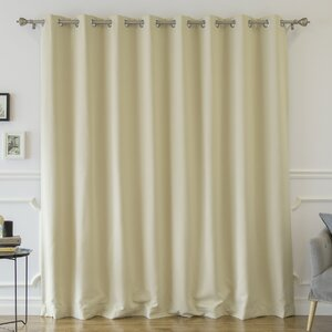 Buskirk Solid Blackout Thermal Grommet Single Curtain Panel
