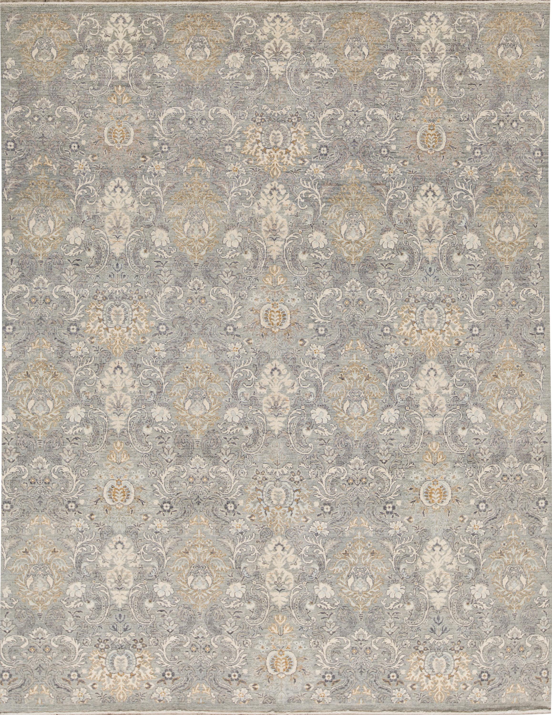 Bokara Rug Co Inc Ziegler Damask Hand Knotted Wool Gray Area Rug Wayfair