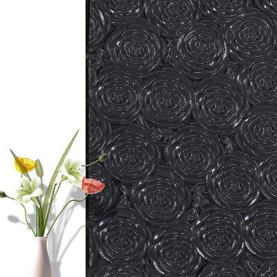 28.4 x 28.4 Peel and Stick Vinyl Wall Paneling e-Joy Color: Black