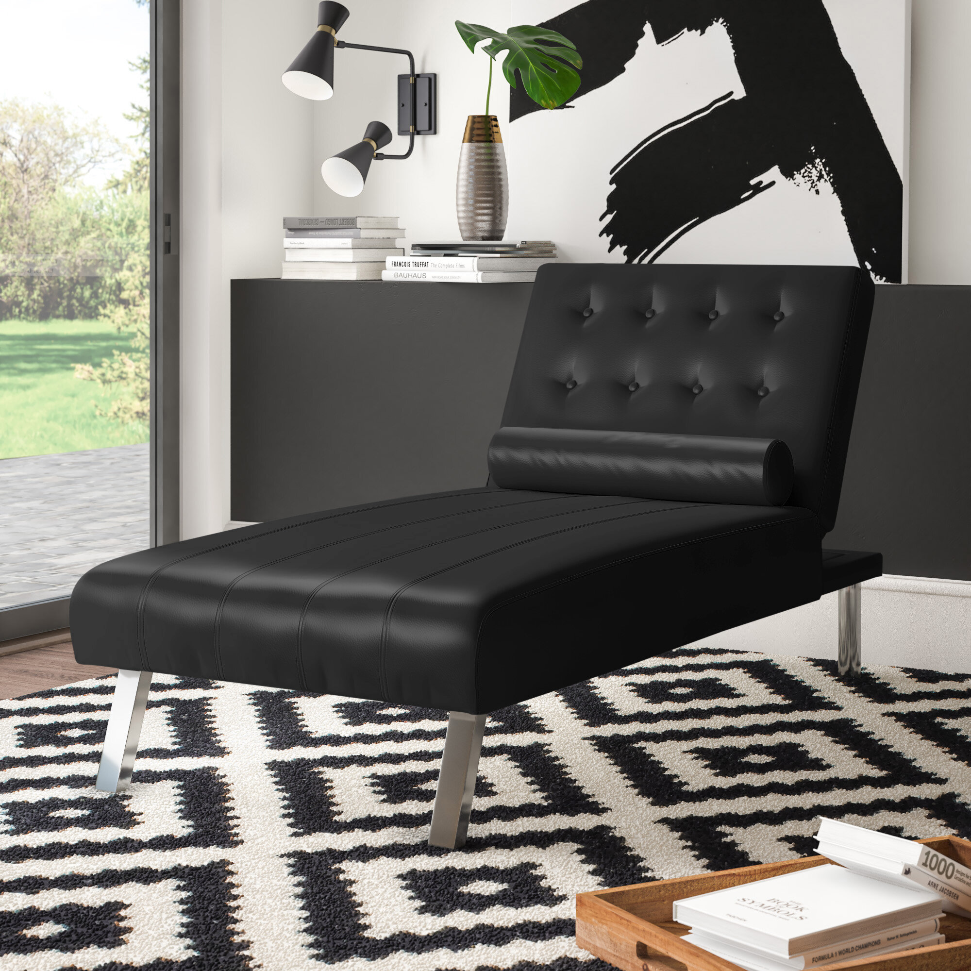 Black Chaise Lounge Chairs You Ll Love In 2020 Wayfair