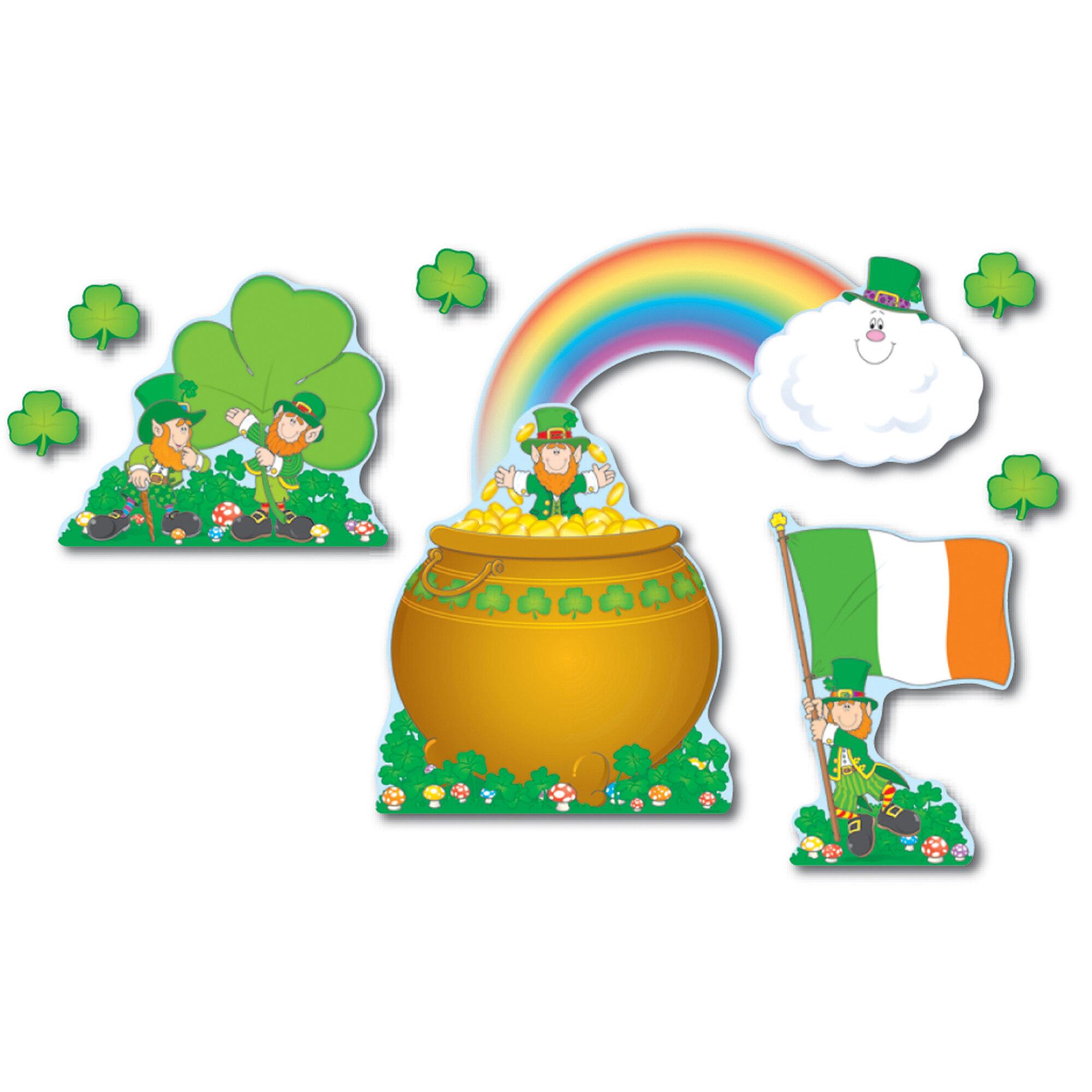 Carson Dellosa Publications St Patricks Day Bulletin Board Cut Out Set Wayfair