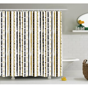 Friedman Vertical Lines Rounds Shower Curtain by Ebern Designs