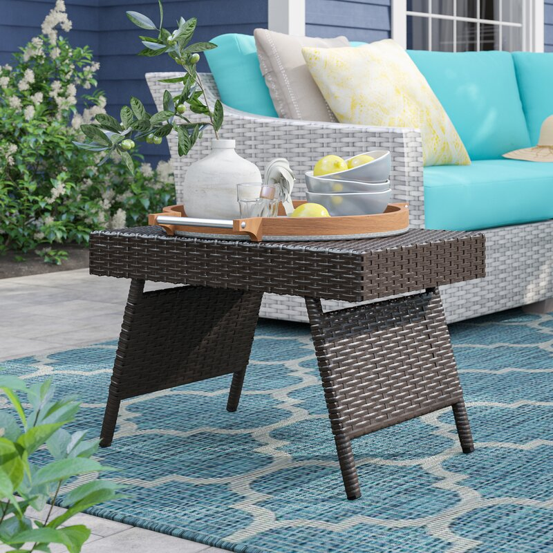 Sol 72 Outdoor Rebello Folding Wicker