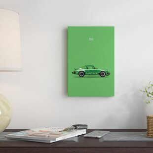 'Porsche 911 Carrera' Graphic Art Print on Canvas By East Urban Home