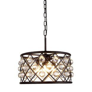 Mercer41 Morion 4-Light Drum Chandelier